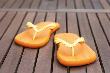 flipflops: Flip-flops on decking LANG_EVOIMAGES