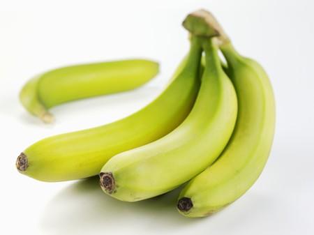 unripe: Unripe bananas
