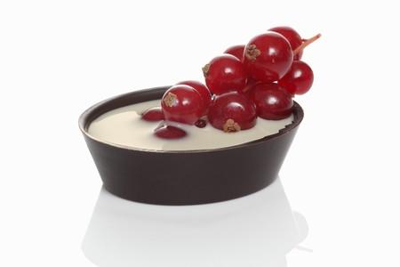 redcurrant: Chocolate redcurrant tart