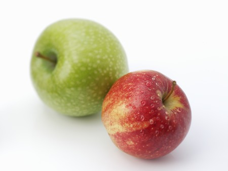 granny smith: Granny Smith and Gala apples LANG_EVOIMAGES