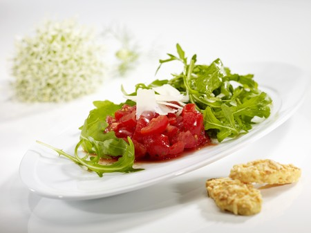 roquette: Rocket salad with tomatoes and rocket