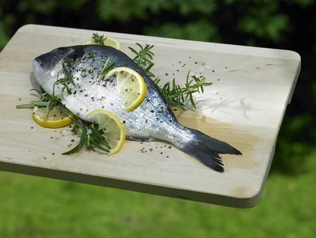 lemon slices: Orata con fette di limone e rosmarino per grigliate LANG_EVOIMAGES
