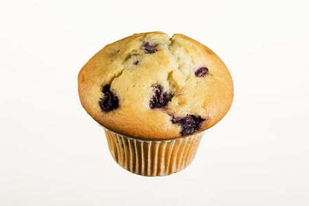blueberry muffin: A blueberry muffin LANG_EVOIMAGES