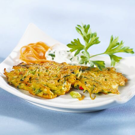 cocozelle: Carrot and courgette pancakes