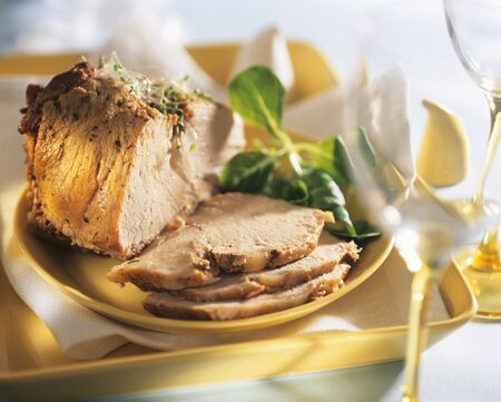 food: Roast pork with radish sprouts for Easter (Poland)
