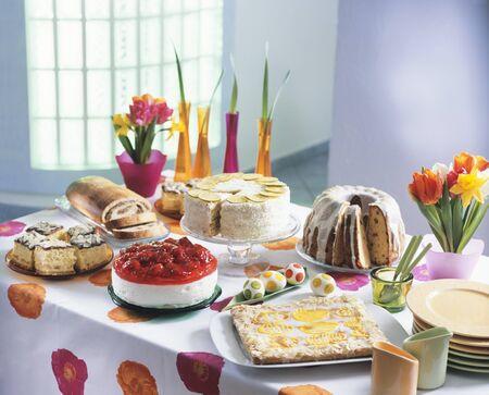 Easter cake buffet (Poland)