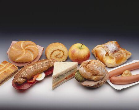 baked  goods: Assorted snacks, baked goods, filled rolls and sausages LANG_EVOIMAGES