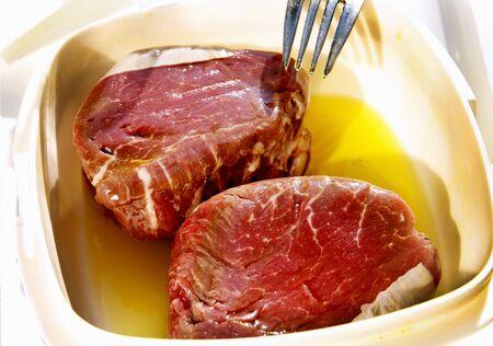 marinade: Steaks in butter marinade