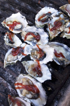qs: Barbecue Oysters on Half Shell