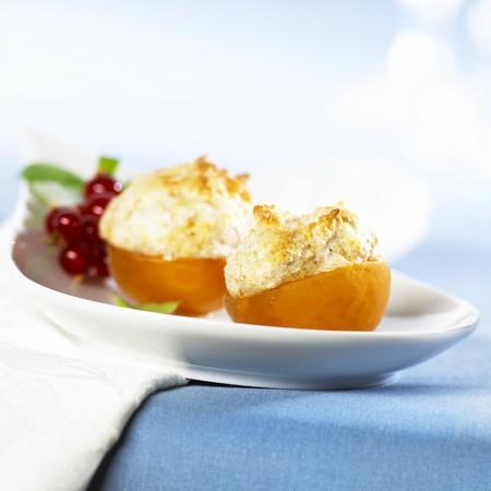 amaretto: Apricots stuffed with Amaretto almond foam