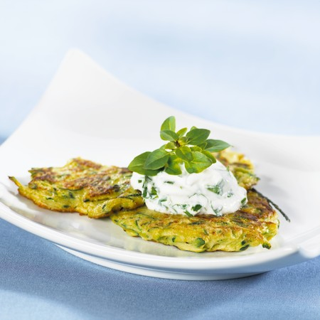Courgette pancakes with soft cheese LANG_EVOIMAGES