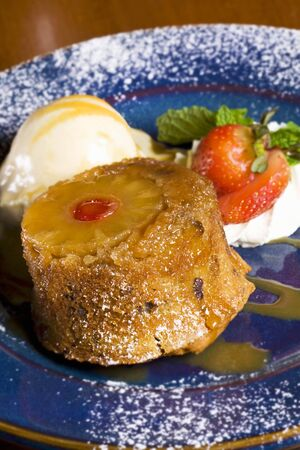 turned out: Pineapple Upside Down Cake with Caramelized Ginger Ice Cream