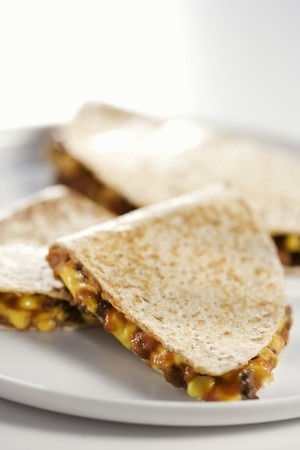 several breads: Quesadillas on a Plate LANG_EVOIMAGES