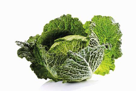 savoy cabbage: A savoy cabbage