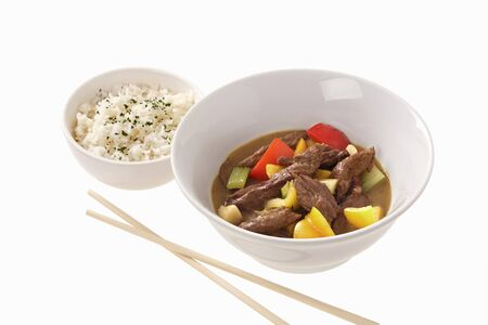 beef curry: Beef curry with rice (Asia)