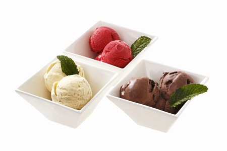 flavours: Various flavours of ice cream (chocolate, cherry, vanilla)