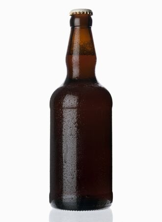 chilled out: A chilled bottle of beer (ale)