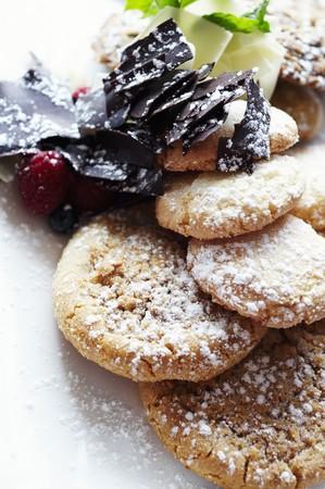 galletas de jengibre: Galletas de jengibre con az�car en polvo