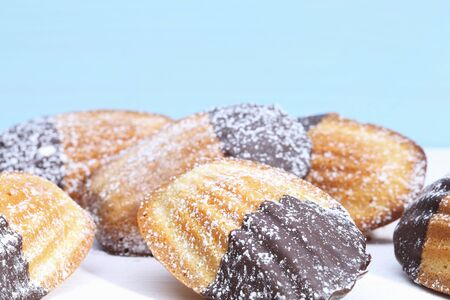 coatings: Madeleines with chocolate glaze LANG_EVOIMAGES