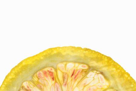 orange slice: A halved orange slice