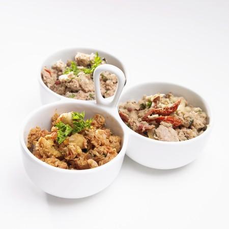 tunafish: Three Types of Tuna Salad; Hawaiian, Sun Dried Tomato and Mediterranean