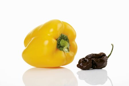 glass topped: Yellow pepper and Scotch Bonnet chilli LANG_EVOIMAGES