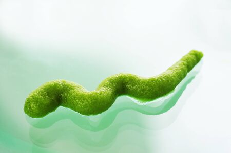 glass topped: Squiggle of wasabi on glass LANG_EVOIMAGES