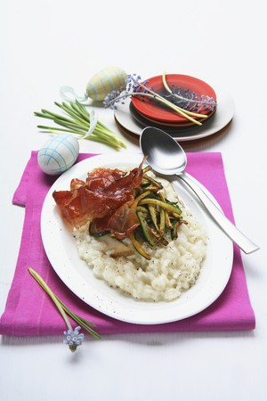 pip: Risotto with bacon, courgettes and pear LANG_EVOIMAGES