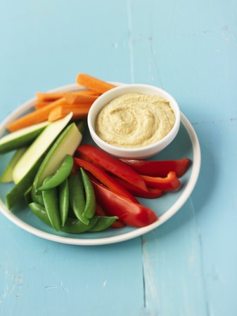 crudite: Crudite with Hummus LANG_EVOIMAGES