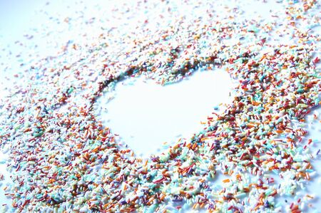 jimmies: Sprinkles with heart shape