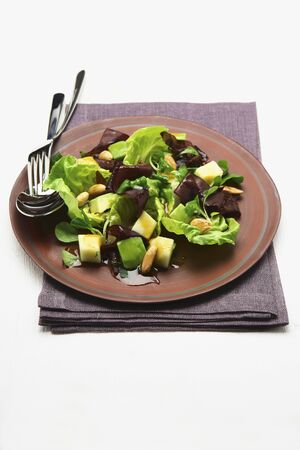 pine nuts: Salad with fruit and pine nuts