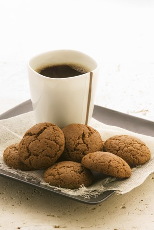 treacle: Treacle biscuits and coffee