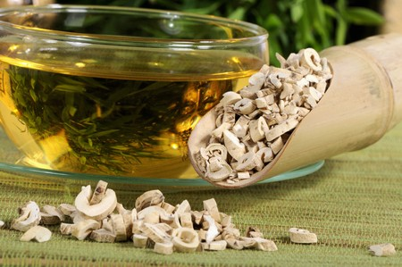 nature cure: Dictamnus root bark tea and dried root