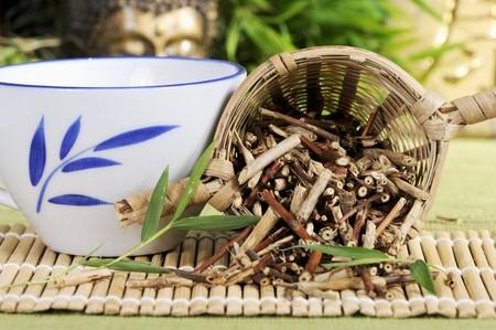 teng: Japanese honeysuckle stem tea (Ren Dong Teng)