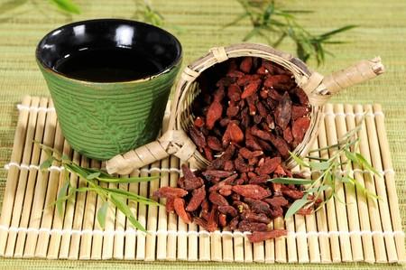 goji berry: Goji berry tea and dried goji berries