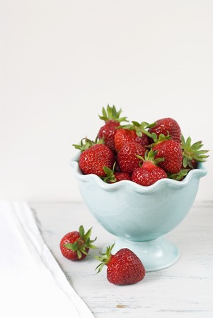 twos: Maine Grown Strawberries in a Bowl