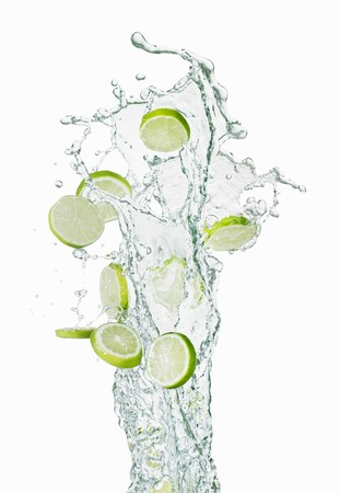squirted: Slices of lime and a splash of water