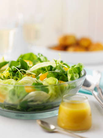 food: A mixed leaf salad with orange and fennel