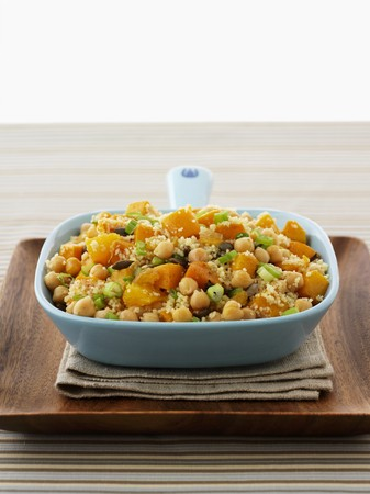 chickpeas: Couscous with chickpeas and pumpkin