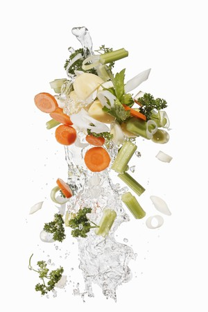 squirted: Mirepoix and herbs with a splash of water