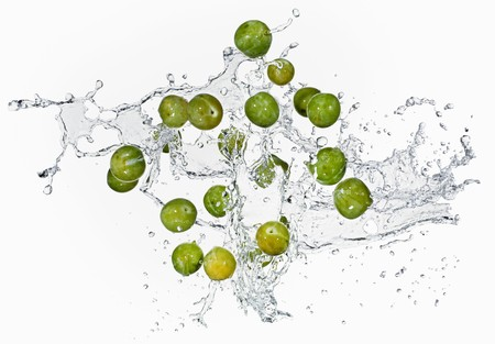 washed out: Mirabelles with a water splash LANG_EVOIMAGES