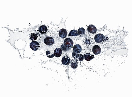 squirted: Plums with a water spalsh