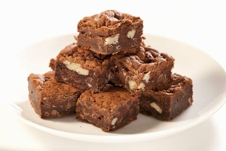 beancurd: Plate of Vegan Nut Brownies Made with Tofu