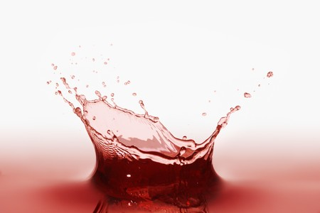 squirted: A splash of red juice