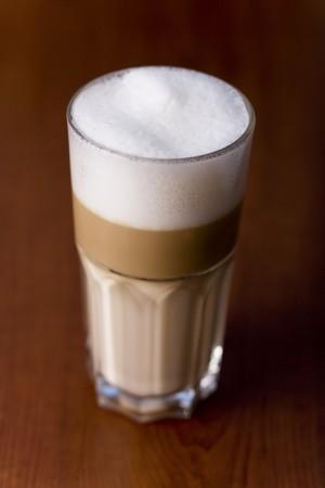 brownness: A glass of latte macchiato