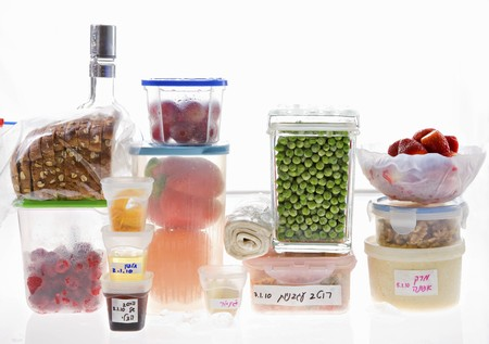 several breads: Food stored in a fridge LANG_EVOIMAGES