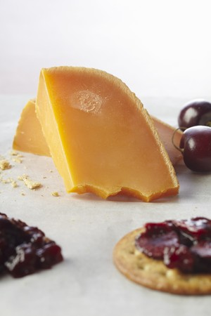 spreads: Cherry Compote on a Cracker with Cheddar Cheese