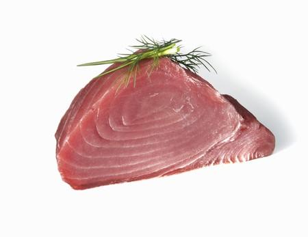 tunafish: Tuna Steak on a White Background