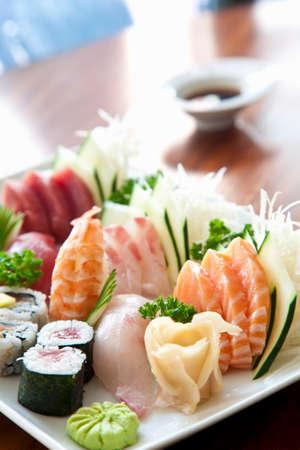 food: Sushi and sashimi platter LANG_EVOIMAGES