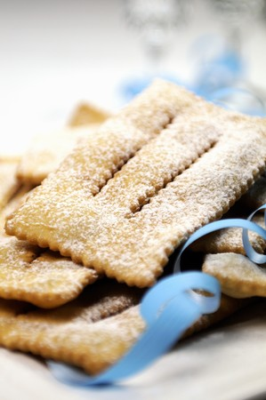 chiacchiere: Chiacchiere (fried Italian carnival biscuits)